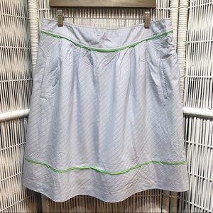 💚💙 Lilly Pulitzer blue white green a-line skirt